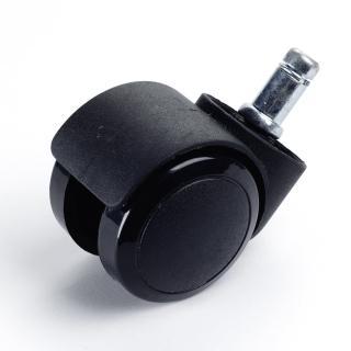 【吉加吉】彈力PU輪組 五顆 輪高5.5cm(黑色)