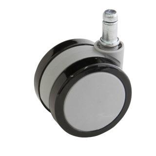 【吉加吉】彈力PU輪組 五顆 輪高6cm(黑灰色)