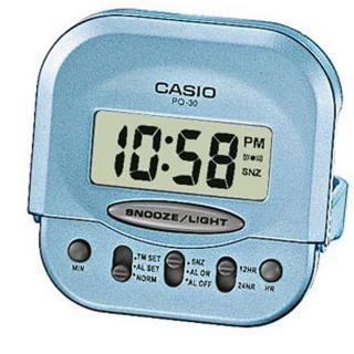 【CASIO】旅行專用款數位液晶鬧鐘(PQ-30-2)