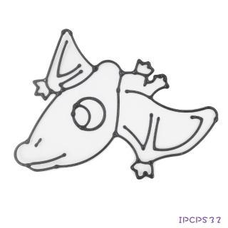 【BabyTiger虎兒寶】愛玩色 兒童無毒彩繪玻璃貼-小張圖卡-翼手龍 IPCPS32(台灣製)