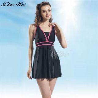 【泳之美】時尚連身裙加大泳裝(NO.2355H-5L)  泳之美