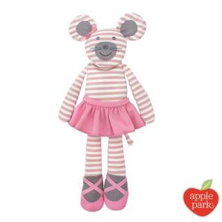 【美國 Apple Park】農場好朋友系列 有機棉 45公分大安撫玩偶(芭蕾鼠娘)