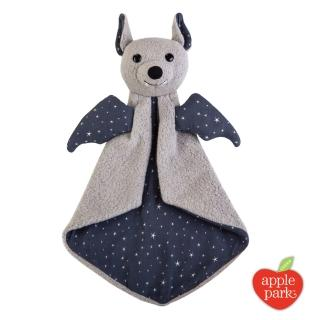 【美國 Apple Park】野餐好朋友系列 有機棉安撫巾禮盒(星點蝙蝠)