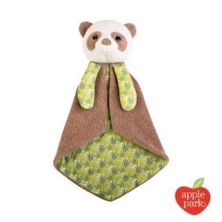 【美國 Apple Park】野餐好朋友系列 有機棉安撫巾禮盒(綠葉貓熊)