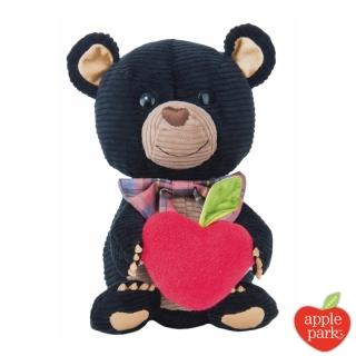 【美國 Apple Park】野餐好朋友系列 有機棉玩偶禮盒(黑色小熊)
