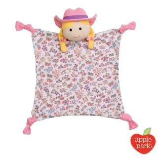 【美國 Apple Park】農場好朋友系列 有機棉 安撫巾(農場女孩)