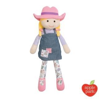 【美國 Apple Park】農場好朋友系列 有機棉 安撫玩偶(農場女孩)