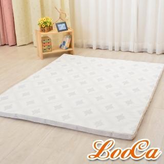 【LooCa】棉柔5cm天然乳膠床墊(加大6尺)