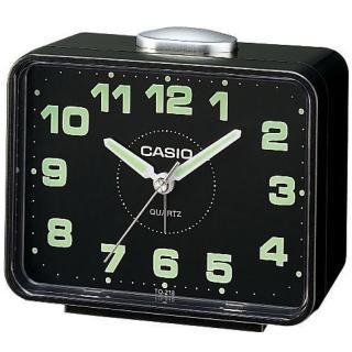 【CASIO】夜間實用桌上型鬧鐘(TQ-218-1D)