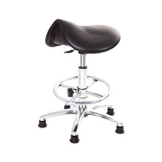 【吉加吉】馬鞍型 工作椅 TW-T05 LUK(電金踏圈款)