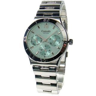 【Canody】簡約動人三眼計時女用腕錶(香檳綠/31mm/CB9802-1C)