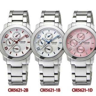 【Canody】時尚簡約三眼藍寶石鏡面女用腕錶(36mm/CM5621)