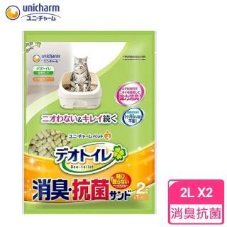 【Unicharm】日本消臭大師-一月間消臭抗菌貓砂2L(2包)