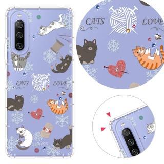 【YOURS】Sony Xperia XZ/XA/XA Ultra/Z5 奧地利水晶彩繪防摔手機鑽殼-懶懶貓(X Compact)