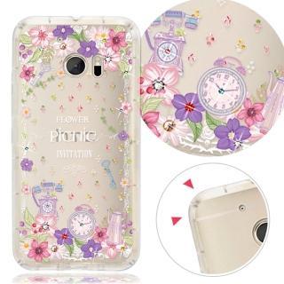 【YOURS】HTC Desire10 Pro/10 EVO/X9/M10 奧地利水晶彩繪防摔手機鑽殼-野之宴(825)