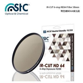 【STC】IR-CUT 6-stop ND64 Filter(58mm 零色偏ND64減光鏡)