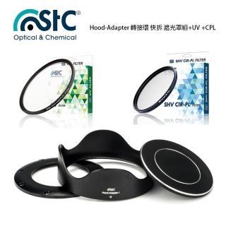 【STC】Hood-Adapter 轉接環 快拆 遮光罩組+UV +CPL(For SONY RX100系列)