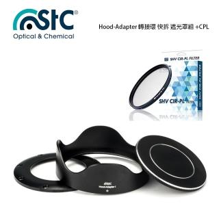 【STC】Hood-Adapter 轉接環 快拆 遮光罩組+CPL 偏光鏡(For SONY RX100系列)