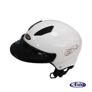 【ASIA】A609 四合扣款式 摩登安全帽(珍珠白)