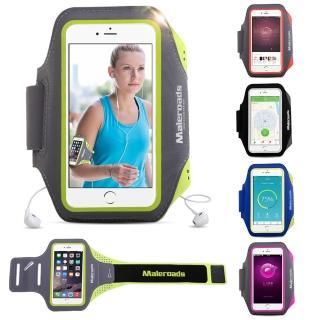 【原裝Maleroads】5吋手機 通用型運動臂帶 慢跑 自行車 夜跑 臂包(輕薄透氣 防水防汗設計)