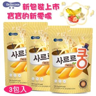 【韓國 BEBECOOK】智慧媽媽益生菌泡芙-香蕉口味(3包入)