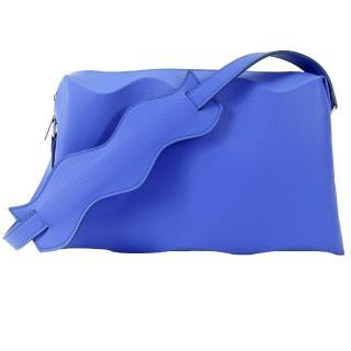 【ISSEY MIYAKE 三宅一生】PLEATS PLEASE 甲殼WAVE立體波浪側肩背包(寶藍)
