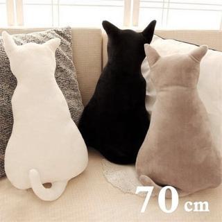 70CM 療癒系背影貓咪抱枕靠墊(3款任選)