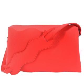 【ISSEY MIYAKE 三宅一生】PLEATS PLEASE 甲殼WAVE立體波浪側肩背包(紅)