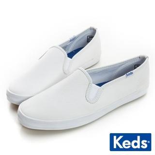 【Keds】經典升級皮質休閒便鞋(白色)