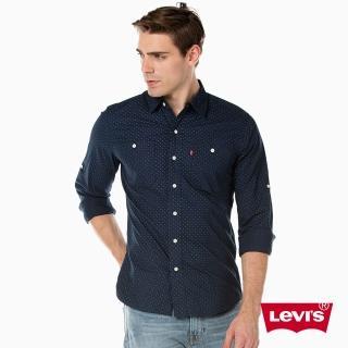 【Levis】長袖襯衫 / 可捲袖 / 圓點 / 純棉