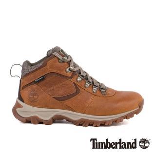 【Timberland】男款淺咖啡色皮革防水中筒鞋   Timberland