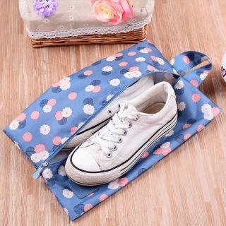 【JIDA】印花款防潑水鞋袋/旅行收納袋(4色)