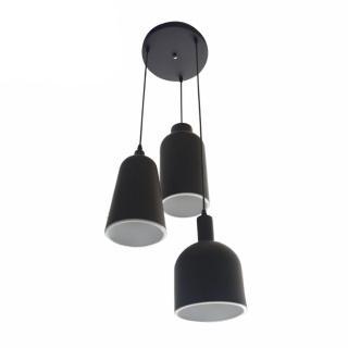 【華燈市】麥路仕復古黑色3燈吊燈(簡約設計)