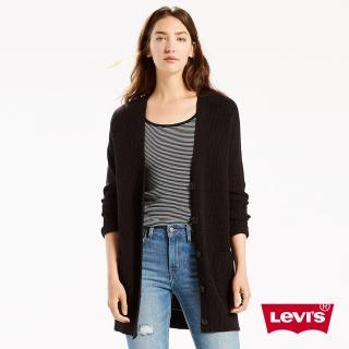 【Levis】女款針織外套 / 長版 / 鈕扣