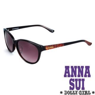 【Anna Sui】Dolly Girl系列復古印花圖騰款造型太陽眼鏡(黑+紅 DG811-112)