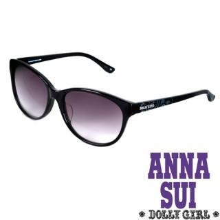 【Anna Sui】Dolly Girl系列復古印花圖騰款造型太陽眼鏡(黑 DG811-001)