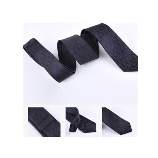 【拉福】藍紋6CM中窄版領帶手打領帶(黑底)  拉福