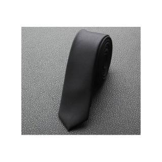 【拉福】極細3.5cm黑色超窄版領帶手打領帶(黑)  拉福