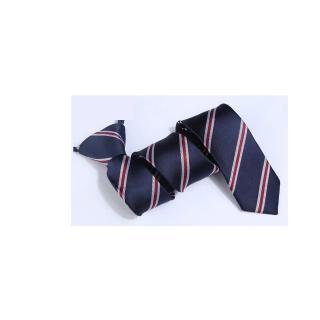 【拉福】領帶窄版領帶6cm拉鍊領帶(藍紅紋)   拉福