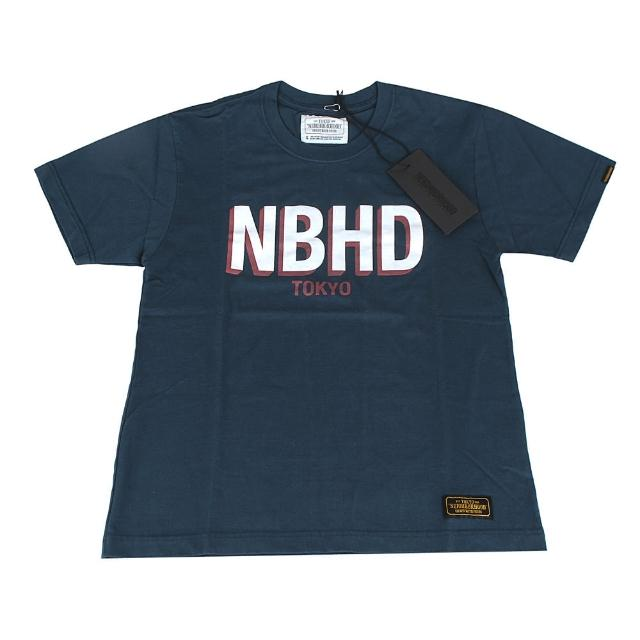 【NEIGHBORHOOD】TOKYO經典大LOGO字樣棉質短T(S/深藍色)