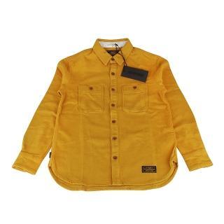 【NEIGHBORHOOD】復古潮流高磅數厚感棉質長袖鈕釦襯衫(S/芥黃)
