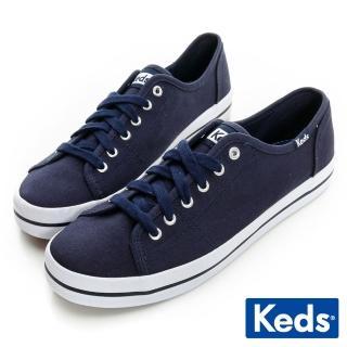 【Keds】中性基本綁帶休閒鞋(海軍藍)  Keds