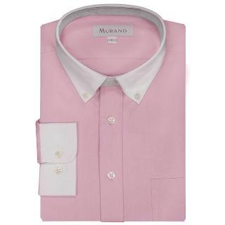 【MURANO】白領撞色長袖襯衫(粉色)