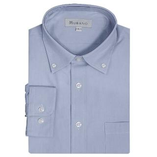 【MURANO】PPO經典款長袖扣領襯衫(藍色)