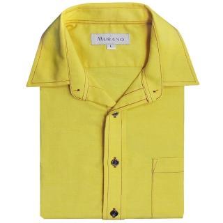 【MURANO】CVC牛津布長袖襯衫(黃色)
