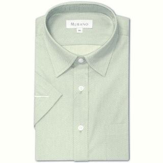【MURANO】40斜紋經典短袖襯衫(淺灰色)