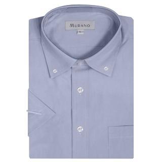 【MURANO】PPO經典款短袖扣領襯衫(藍色)