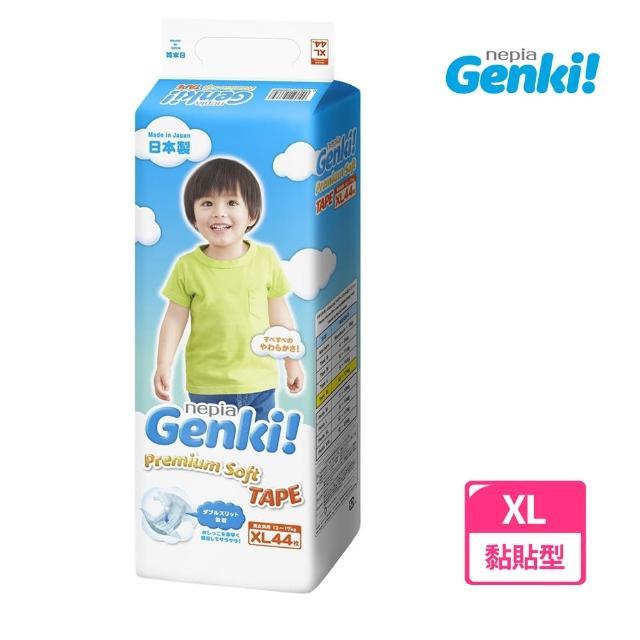 王子 GENKI元氣超柔紙尿褲 XL44-4包