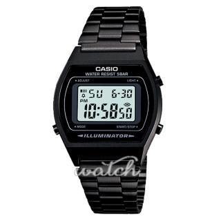 【CASIO 卡西歐】懷舊設計_復古造型_不銹鋼錶帶_防水_男錶_女錶(B640WB)