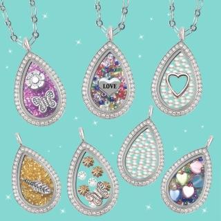【HEMAKING】潘朵拉月光寶盒閃亮水鑽水滴型項鍊(7款/任選)